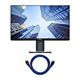 Dell P2419H 24-Inch LED-Backlit Anti-Glare IPS Monitor - (8 ms, FHD 1920 x 1080, 1000:1 Contrast, Comfortview DisplayPort, VGA, HDMI, USB), with Knox Gear 4K HDMI Cable Bundle (2 Items)