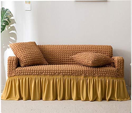 Allenger Funda Elástica de Sofá,Funda de sofá Gruesa de Color sólido, Funda de sofá de Falda Completa, Funda de cojín Antideslizante de Alta Elasticidad-Green_120-170cm