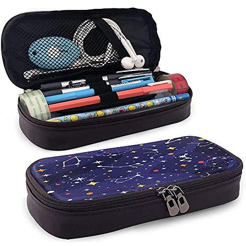 Constellation Graphics Piktogramm Sternenhimmel Bleistift Tasche Pu Leder Schreibwaren Tasche