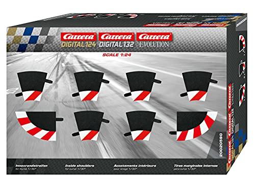 Carrera - rail et accessoire pour circuit - 20020590 - 1/24 et 1/32 - Carrera Evolution -Carrera Digital 132 et 124 - Bordures intérieures pour les courbes 1/30° (6), embouts (2)
