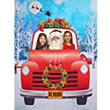 Christmas Photo Booth Prop Frame, Giant Fabric Photo Backdrop, Christmas Party Decorations, Funny Xmas Party Games Supplies, 6.6 x 5 ft