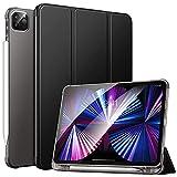MoKo Funda Compatible con Nuevo iPad Pro 11 2021, iPad Pro 3.ªGeneración[Admite Carga Apple Pencil] Funda de Cubierta con Soporte y Carcasa Trasera de TPU Translúcido para iPad Pro 11' 2021, Negro