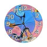 uxingdouriyongpin Orologio da Parete Aladdin's Wish Silenzioso Orologio Digitale AntiGraffio a Batteria Rotonda Home