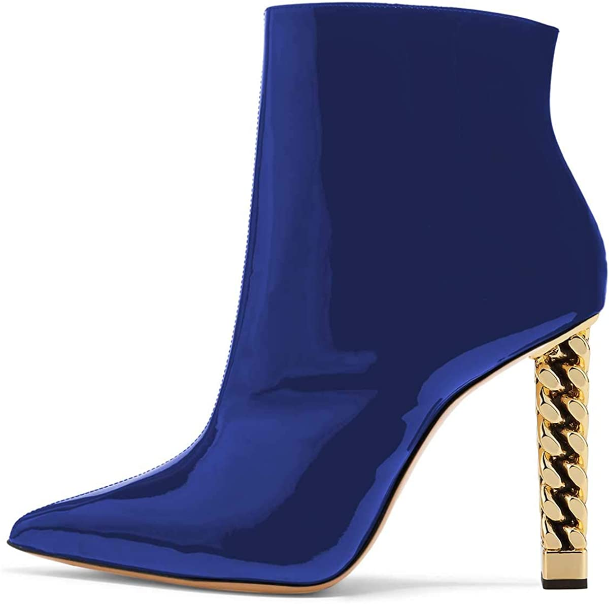 FSJ Women Sacramento Mall Trendy Pointed Toe Ankle Block High Chunky Boots Heel Special price for a limited time