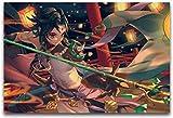HuGuan Lienzo Y Arte De Pared PóSter 23.6'x35.4'(60x90cm) Genshin Shock Tattoo Lantern Decorativo Salón Pintura Pared Y Estampados Cuadros