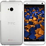 mumbi TPU Funda Compatible con HTC One, Semi-Transparente, Efecto de Cristal Esmerilado
