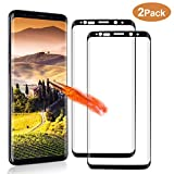 NONZERS Cristal Templado para Samsung Galaxy S9 Plus, 2 Unidades 9H Dureza, Resistente a Araaozos y Golpes, Sin Burbujas, Anti Dactilares, Compatible con 3D Touch Protector para Samsung Galaxy S9 Plus