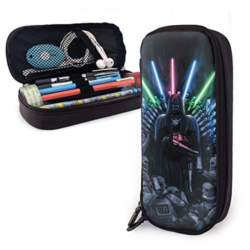 Star Wars Darth Vader - Estuche multifuncional y de gran capacidad con cremallera de metal impreso en 3D