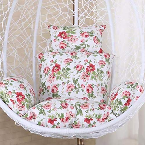 SKRCOOL Swing Hanging Chair Cushion Seat Cushion Hanging Egg Hammock Chair Pad Rocking Chair Cushion For Outdoor Garden Patio Hanging Furniture Floral