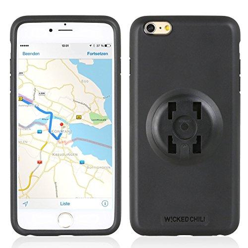 Wicked Chili QuickMOUNT Handy Halteschale und Regen Poncho für Original Apple iPhone 6S+ / 6+ (5,5 Zoll) - Case/Hülle, kompatibel, HR und iGrip 4 Krallen System (nur Handyschale ohne Halterung)