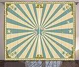 ABAKUHAUS Circo Cortinas, Marco Estrellas Vigas Rayos, Sala de Estar Dormitorio Cortinas Ventana Set de Dos Paños, 280 x 175 cm, Multicolor
