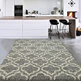 Sweet Home Stores Cozy Shag Collection Solid Shag Rug Contemporary Living & Bedroom Soft Shaggy Area Rug, 5'3' X 7', Teal