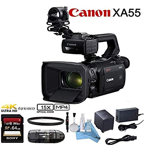 Purchase Canon XA55 Professional UHD 4K Camcorder with Sony 64GB Starter Bundle