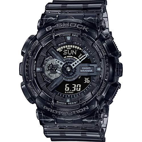 Casio G-Shock By Men's GA110SKE-8A Analog-Digital Watch Clear Black