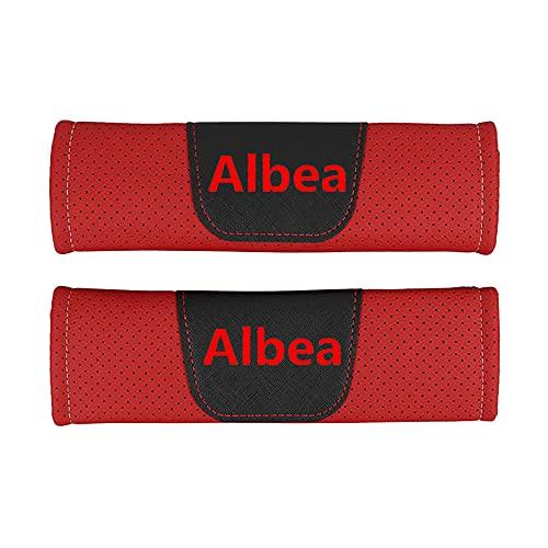 Protector de cojín de hombro para cinturón de seguridad de estilo de coche de cuero Pu,para Fiat Albea,accesorios de estilo de coche, 2 piezas
