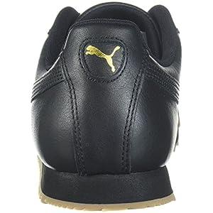 PUMA mens Roma Classic Gum Sneaker, Black-teamgold, 11.5 US