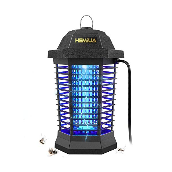 HEMIUA Bug Zapper Pro Outdoor Patio Mosquito Killer – Insect Killer Fly Pests Attractant Trap for Outdoor and Indoor Hangable Black