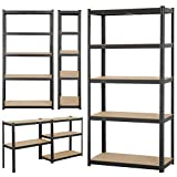 <span class='highlight'><span class='highlight'>Yaheetech</span></span> Garage Shelving Units - 5 Tier Heavy Duty Storage Shelves Metal Shed Utility Racking,180cm x 90cm x 40cm,175KG Per Shelf