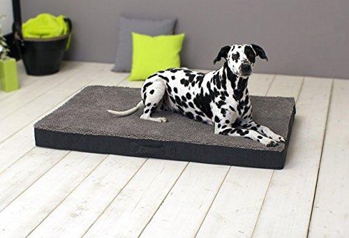 Neu SUN GARDEN Pet Collection Buddy - orthopädisches Hundekissen Tierkissen viskoelastischer Schaumstoff Größen: M ca. 79x60x10cm Farbe: Grau
