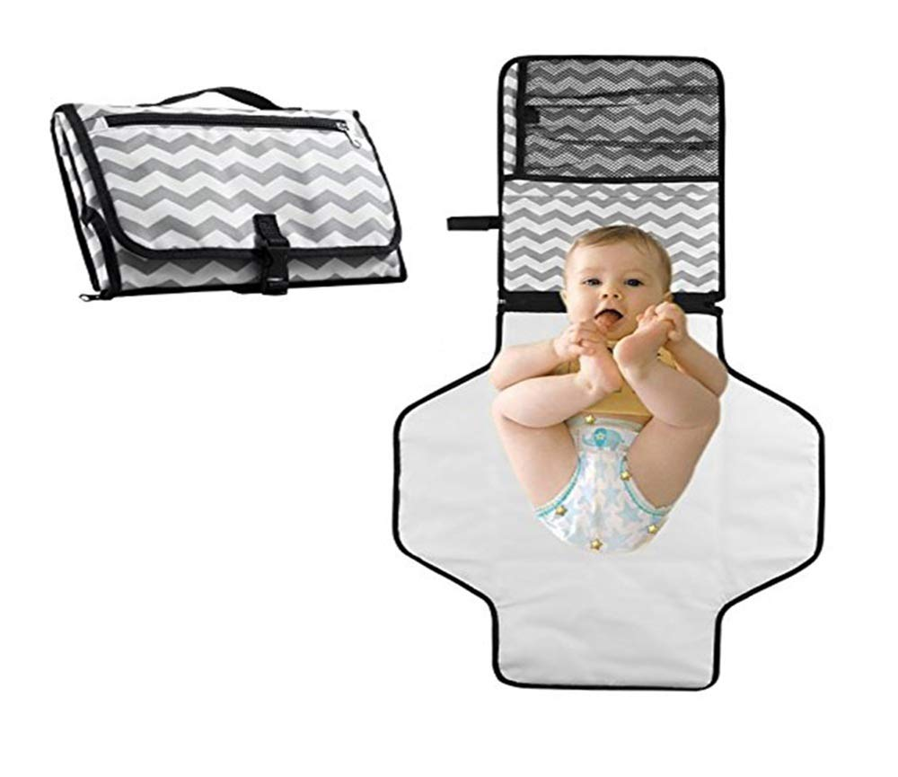 Portable Diaper Changing Pad - Diaper Bag Clutch - Travel Baby Diaper Changing Station -Baby Cradle Sheet - Waterproof & Lightweight Pad - Baby Shower Gift - 4 face Towels Color Assorted