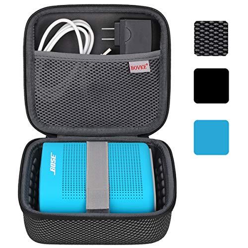BOVKE Lautsprechertasche für Bose SoundLink Color Bluetooth Speaker II Tragbaren Bluetooth-Lautsprecher Hart Stoßdichte Tragetasche Aufbewahrung Reisetasche Tasche Schutzhülle Box, Mesh Schwarz