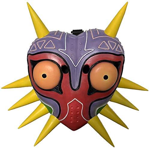Majora's Mask The Legend of Zelda Realistische 3D Latex Spiel Cosplay Zubehör Halloween Maskerade Deluxe Kostüm Requisiten Gelb