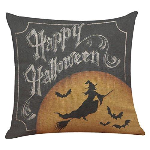 WOCACHI 45cm*45cm Halloween interessant Muster Leinen Kissenbezug Sofa Taille Wurf Kissenbezug Home...