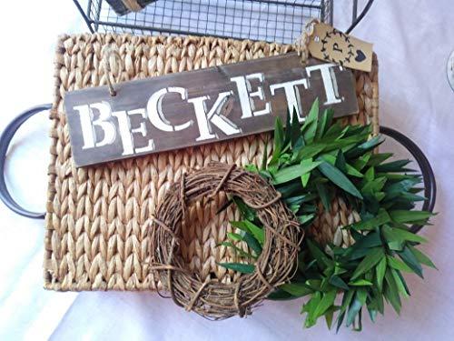onbekend Wall Art Houten Pallet rustieke muur decor cabin/cottage/boerderij/kinderkamer/voordeur, gepersonaliseerde familie teken herten/geweien naambord Liefde Deerly/ADD Wood Plaque, Custom Gift