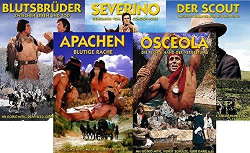 DEFA Indianerfilme -Apachen u.a. - Gojko Mitic - 5 DVD