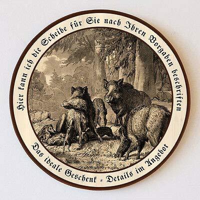 Familie der Wildschweine von Deiker Jagdwild Schützenscheibe 55cm Wunschtext 152