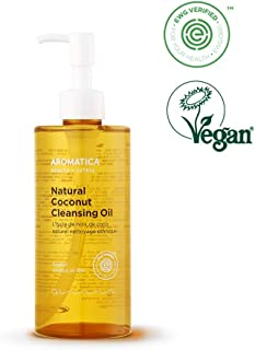 AROMATICA Natural Coconut Cleansing Oil 10.14oz / 300ml, Vegan, EWG VERIFIED