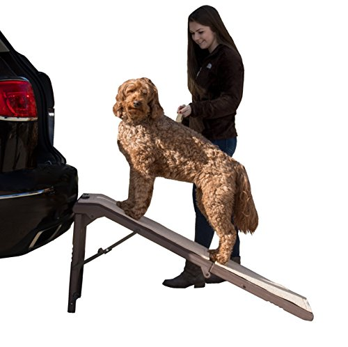 Pet Gear Free Standing Pet Ramp for Cats and Dogs Up to 200-Pound, Chocolate - 56' x 16' x 23'