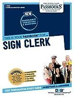 Sign Clerk (Career Examination)