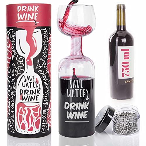 Bicchiere da vino l'ultimo bicchiere da bottiglia di vino rosso bicchiere da vino bianco 750 ml con perline di pulizia e confezione regalo