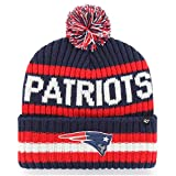 '47 Men's Navy New England Patriots Bering Cuffed Knit Hat with Pom