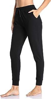Gimdumasa Pantalon Chandal Mujer Algodón Largos Pantalones Deportivos Mujer Jogger Pantalones con Bolsillos y Cintura Elás...