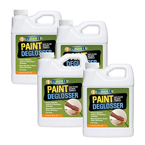 TruCleanEX Paint Deglosser & Surface Prep - No Rinse Formula (4-32oz botles)