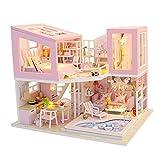 sharprepublic DIY Mini Doll House Kits Modelos Cottage Sin Cubierta De Polvo para Niños Juguete De Regalo De Cumpleaños