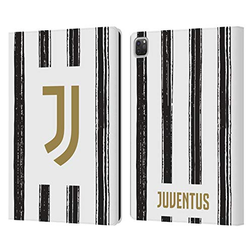 Head Case Designs Oficial Juventus Football Club Casa 2020/21 Kit de Partido Carcasa de Cuero Tipo Libro Compatible con Apple iPad Pro 12.9 (2020)