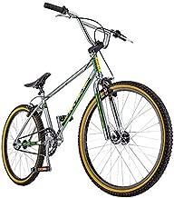 Schwinn Predator Team 24 Freestyle BMX Cruiser Bike, Throwback 1983 Design, Single-Speed Drivetrain, Hi-Ten Steel Frame, Rattrap Pedals, Front and Rear Caliper Brakes, 24-Inch Gum Wall Tires, Chrome