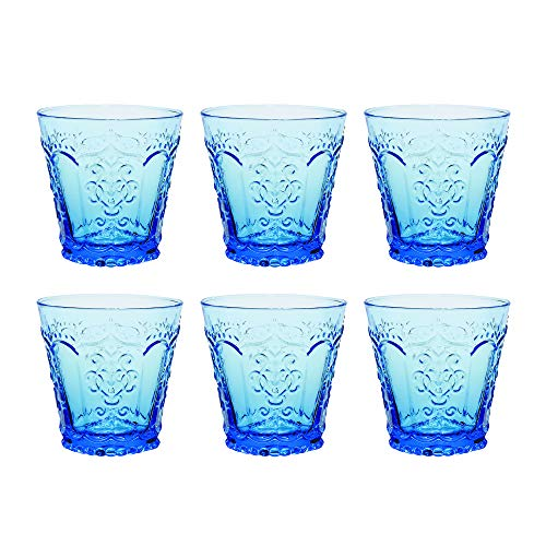 Kom Amsterdam 6AQB3 Aqua Waterglas, Soda limoenglas, 240 milliliter, Blauw