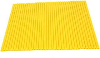 72 Pcs Yellow Motorcycle Spoke Covers Guards - 19