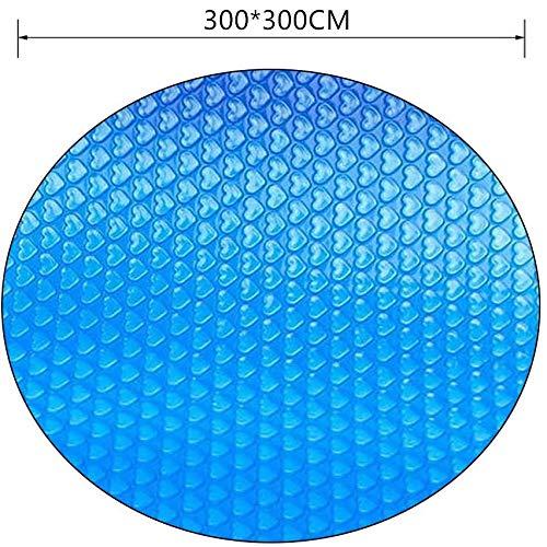 Timess Solarplane Solarplane Pool Rund für Poolerwärmung Dick und Stabil Solarfolie Cover für Runde Pools Poolplane Solarabdeckplane Poolheizplane in blau (300 * 300cm, Blau)