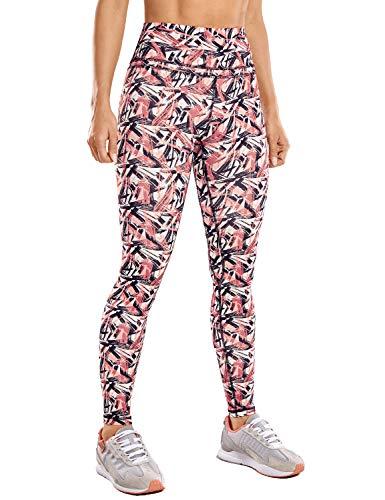 CRZ YOGA Mujer Mallas Deportivo Pantalón Elastico para Running Fitness-71cm Leafy Multi 1 38