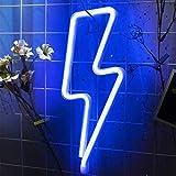 Blu Led Luce Neon,Casa Camera da Letto Ufficio Dormitorio Festa Natale Luci Regalo di San Valentino Ricarica USB/Luci al Neon Alimentate a Batteria Luci Decorative