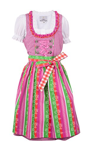 Ramona Lippert Ramona Lippert Dirndl Kinderdirndl Lina, Pink, 122-128