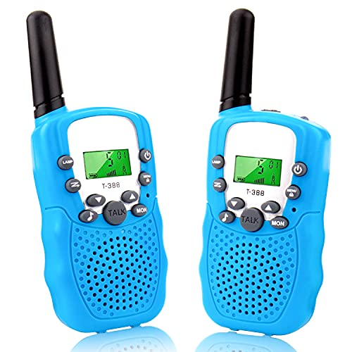 NORBASE Walkie Talkies, 8 Channel 2 Way Radio with Backlit LCD Flashlight...