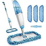 Microfiber Spray Mop for Floor Cleaning, TINA&TONY Hardwood Floor Mop Spray Dry Wet Mop with 3 Reusable Mop Pads & 635ML Refillable Bottle, Kitchen Dust Mop for Hardwood Laminate Tile Floors, Blue