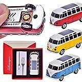 CHAMP VW Bulli T1 - USB Feuerzeug Spiral-Batterie-Anzünder VW Bus in Einzelverpackung mit USB...