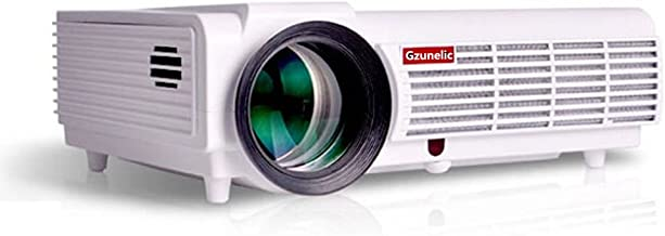 $139 » Gzunelic 6300 Lumens 1080p Projector Full HD with 2 HDMI 2 USB AV, VGA Audio Interfaces LED LCD Video Proyector Ideal for Home Theater